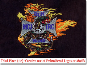 Third Place (tie)-Creative use of Embroidered Logos or Motifs